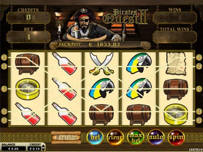 Main game board featuring nine reels and 10 paylines with a $3,600 max payout