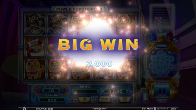 2000 coin big win