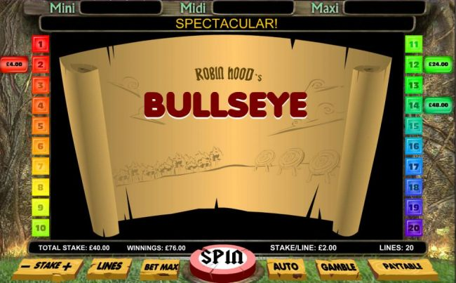 Bullseye feature