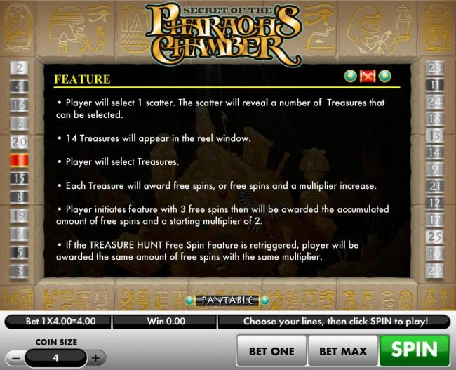 Treasure Hunt Free Spin Rules