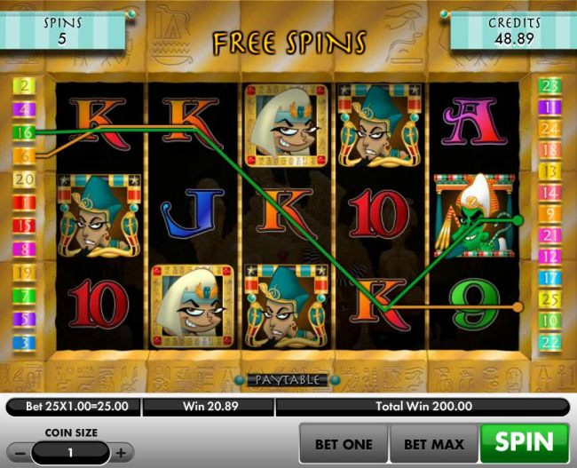 A 200.00 big win triggered during the Treasure Hunt Free Spins feature.