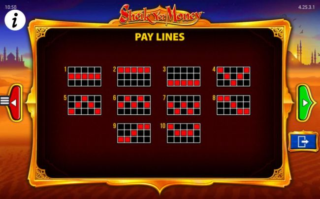 Payline Diagrams 1-10