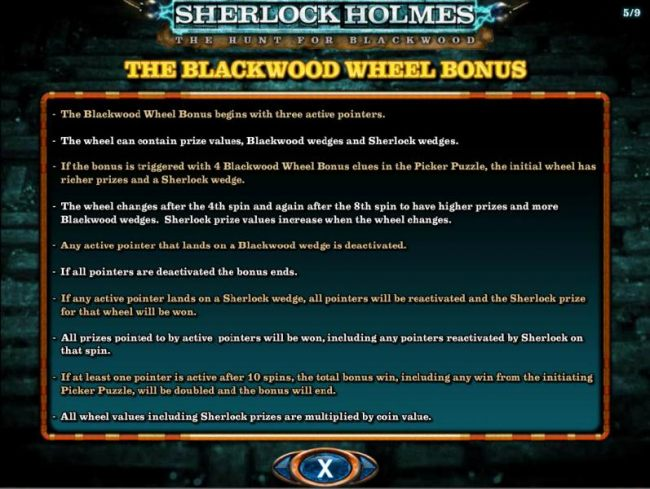 The Blackwood Wheel Bonus Game Rules and How to Play.