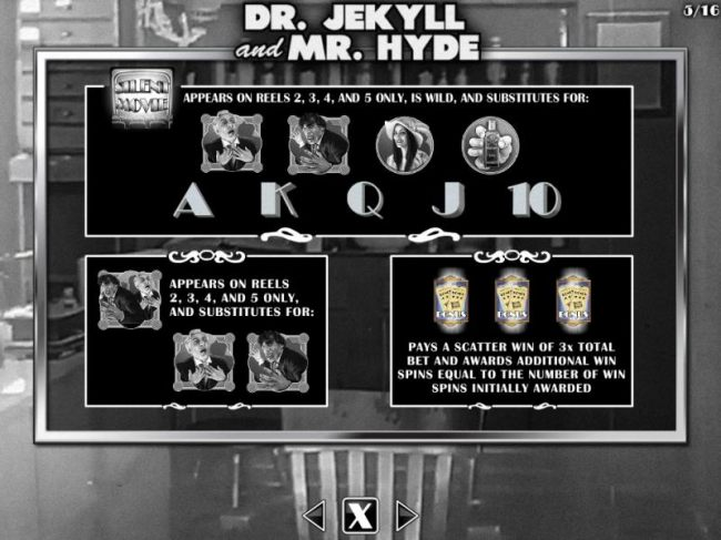Dr. Jekyll and Mr. Hyde Bonus - Wild and Scatter Symbols