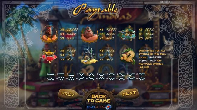 High value slot game symbols paytable