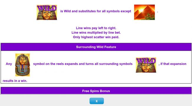 Wild symbol and Surrounding Wild Feature Rules