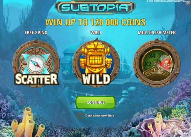 you can win up to 120000 coins when playing tis game. Also featuring free spins, wild symbol and a multiplier meter