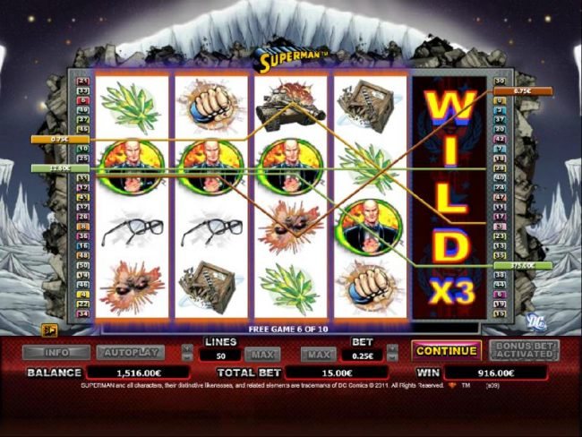 expanding wild on fifth reel triggers 4 winning paylines