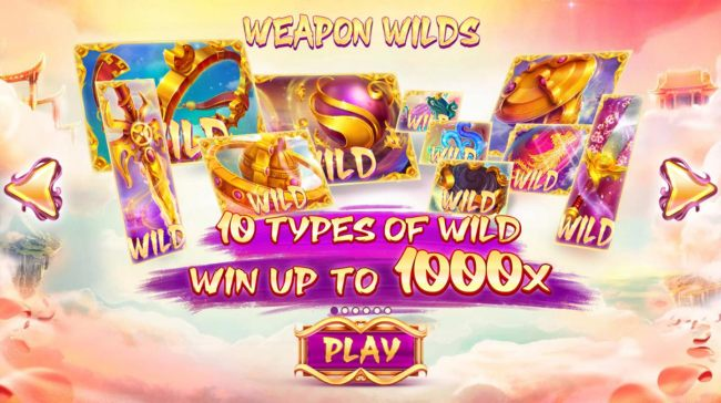 Game features 10 types of wild. Win up to 1000x!