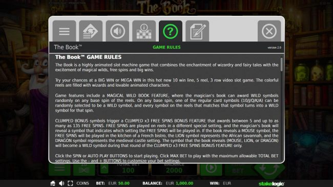 General Game Rules - The theoretical average return to player (RTP) is 96.70%.