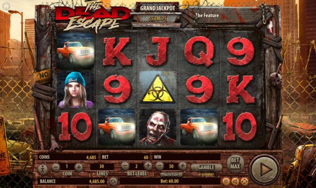 Three pickup truck scatters in any position on the reels triggers the free spins feature