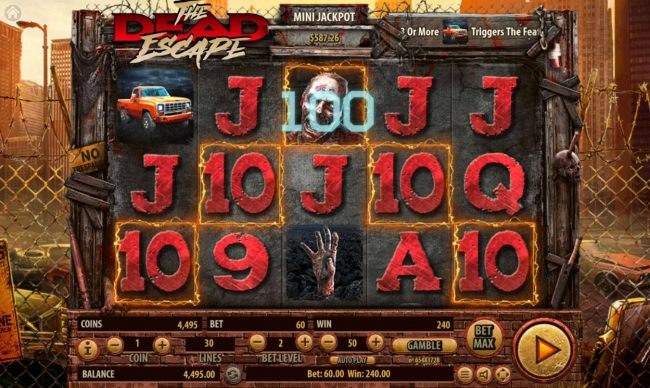 A winning Five of a Kind triggers a 100 coin line pay