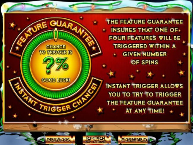 Feature Guarantee insures that a feature will be triggered within a certain number of spins