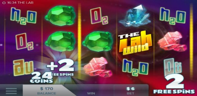 An additional 2 free spins are awarded during the free spins feature.