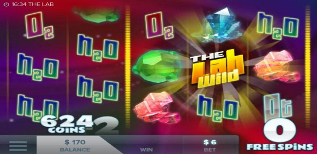 The free spins feature pays out a total of 624 coins