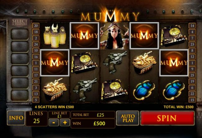 4 scatters win 500 coins
