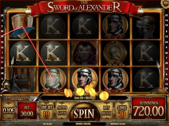 Multiple winning combinations triggers a 720.00 super win.
