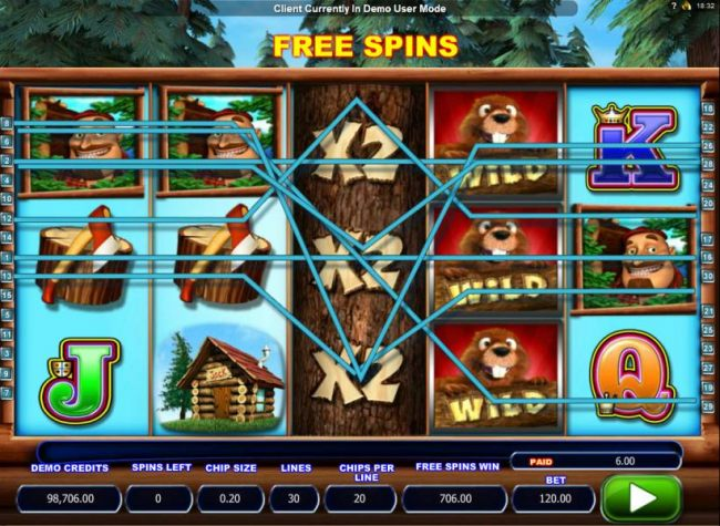 Multiple winning paylines triggers a big win with a stacked wild and x2 multipliers on reel 3.!