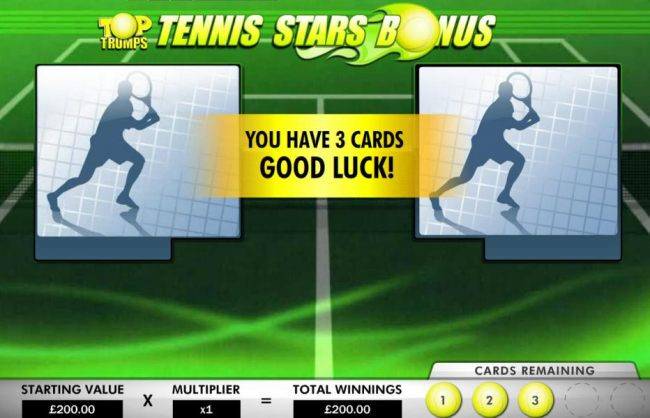 Tennis Stars Bonus Feature Game Board