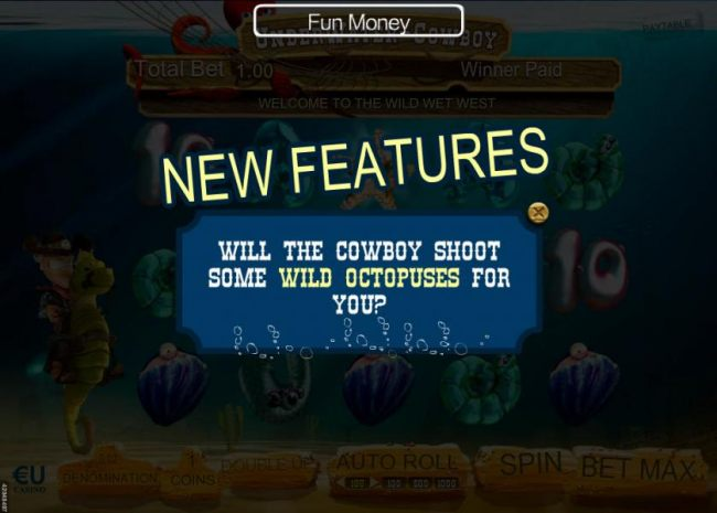 New Features - Will the cowboy shoot some wild octopuses for you?