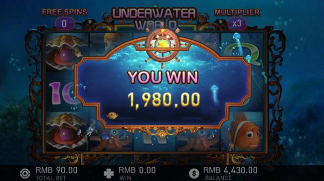 Free Spins feature pays out a total of 1980 coins