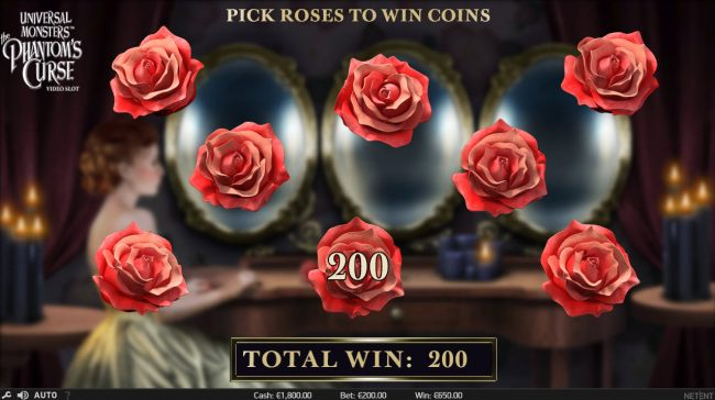Select roses to reveal prize awards