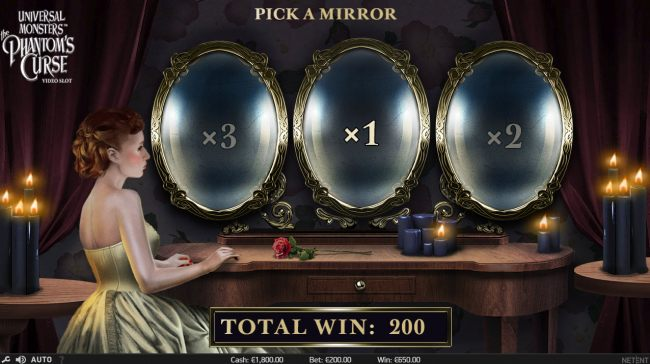 Pick a mirror to reveal a win multiplier