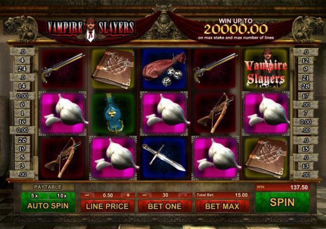 a $137 jackpot triggered by multiple winning paylines