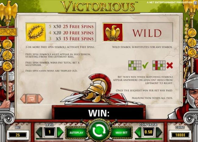 free spins and wild symbol game rules