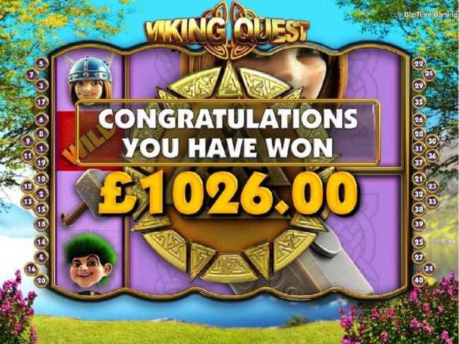 The free spins feature pays out a total of 1,026.00