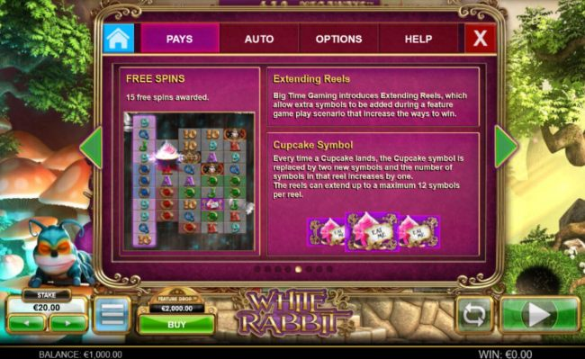Free Spins, Extending Reels and Cupcake Symbols Rules