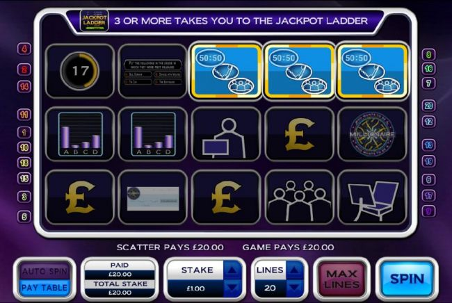 3 scatter symbols triggers free spins feature