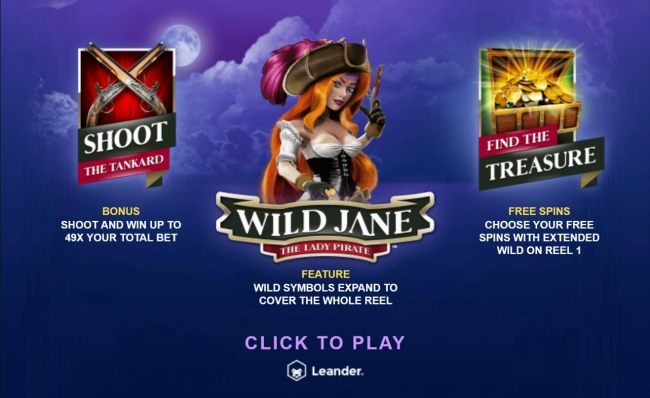 Game features include: Shoot the Tankard Bonus, Expanding Wilds and Free Spins.
