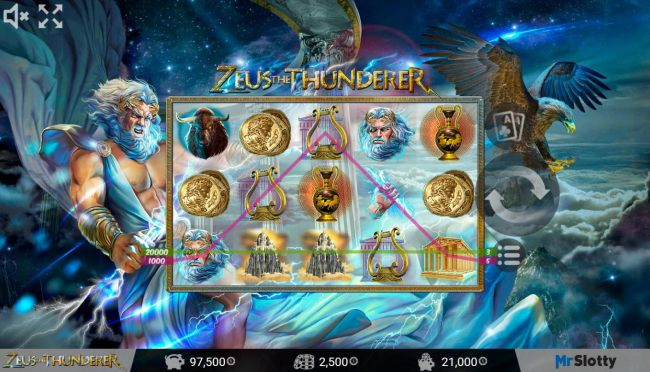 Free spin triggers a 21000 coin jackpot award