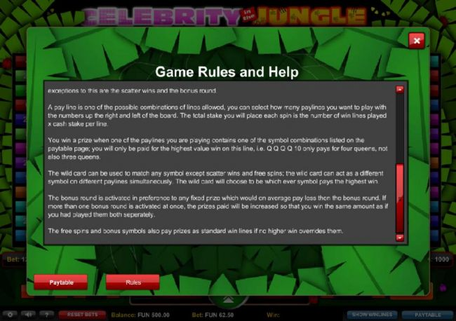 Game Rules and Help - Part 2