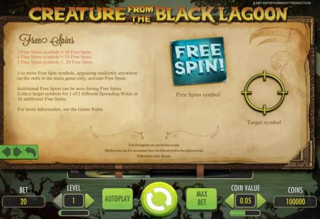 free spins game rules