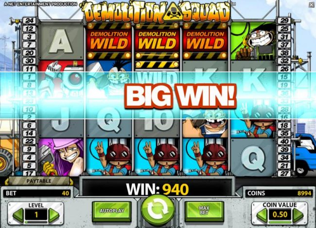 demolition wild triggers a 940 big win payout