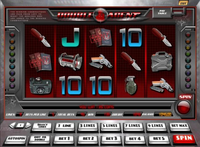 two scatter symbols triggers a 135 coin jackpot