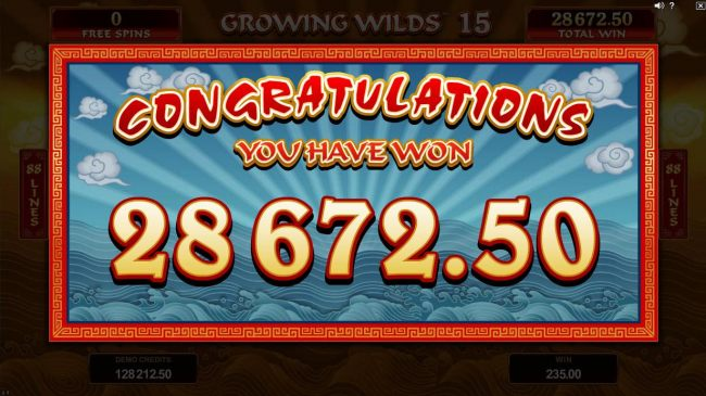 The Free Spins feature pays out a total of 28,672.00