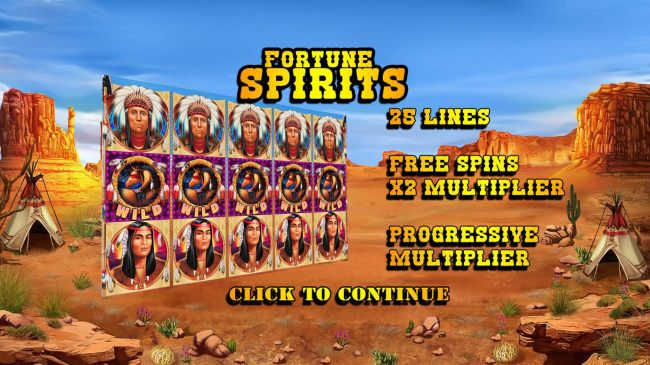 Game features include: 25 Lines, Free Spins with 2x Multiplier and Progressive Multiplier