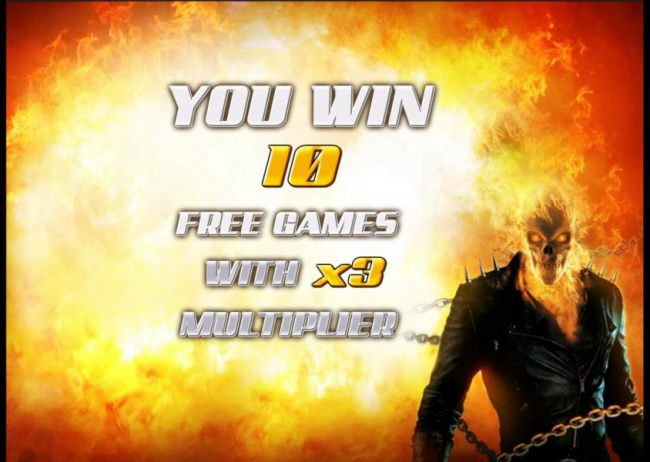 10 free games awarded with a x3 multiplier