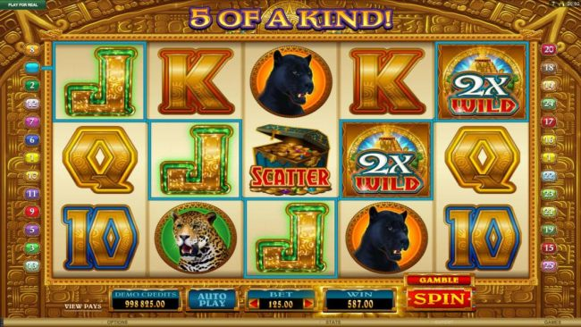 multiple winning paylines combine with a 3x wild for a big winning jackpot
