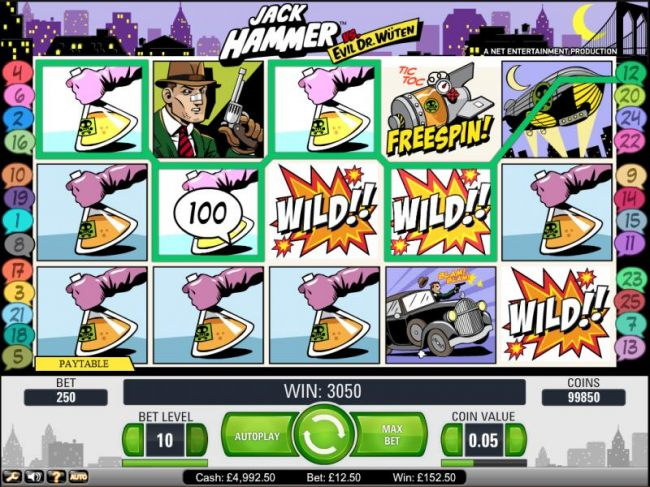 Gonzo's Quest slot game sticky win 3050 coin jackpot payout