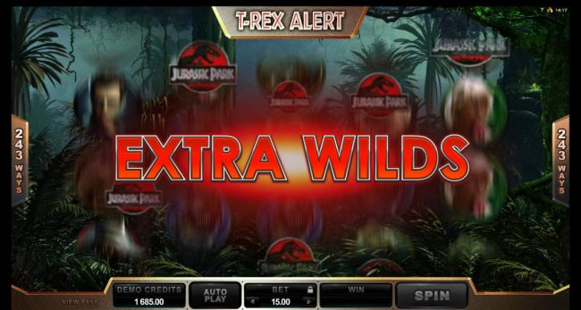 extra wilds feature triggered