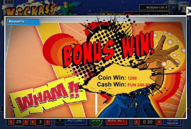 Bonus Win! 1200 coins paid out