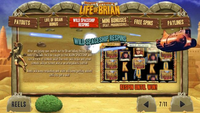 Wild Spaceship Respins Game Rules