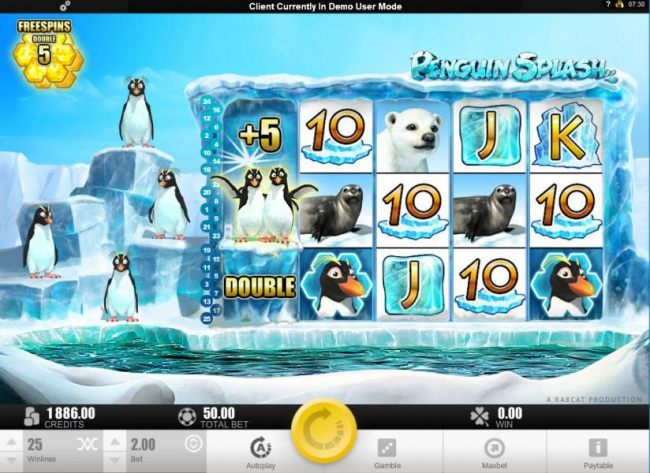 Three scatter scatter symbols triggers free spins feature