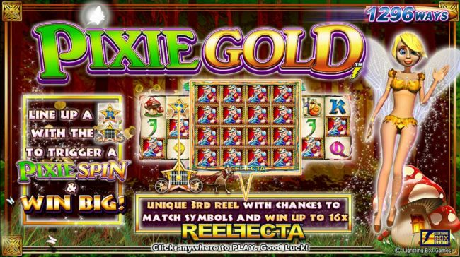 game features a unique 3rd reel with chances to match symbols and win up to 16x. Line up a K-Star symbol with the Star wagon to trigger a Pixie Spin and win big!
