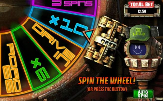 Spin the wheel to win a prize