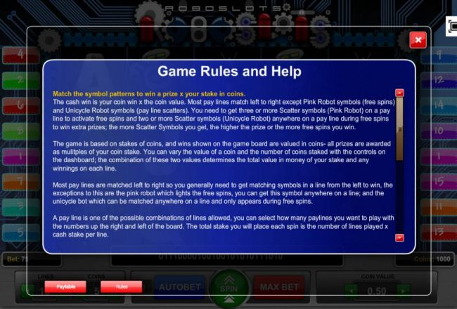 Game Rules and Help - Part 1